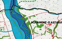 Illustration de la trame verte et bleue de la commune de Miramont d'Astarac dans le cadre de la révision du PLU