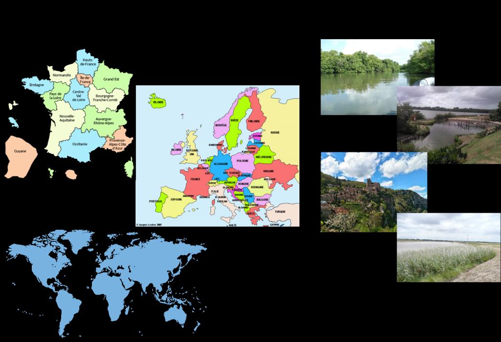 Localisations géographiques - périmètre d'intervention de MREnvironnement