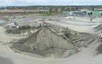 Vue aérienne d'une carrière pour laquelle MREnvironnement a réalisé l'évaluation environnementale de la mise en compatibilité du PLU.